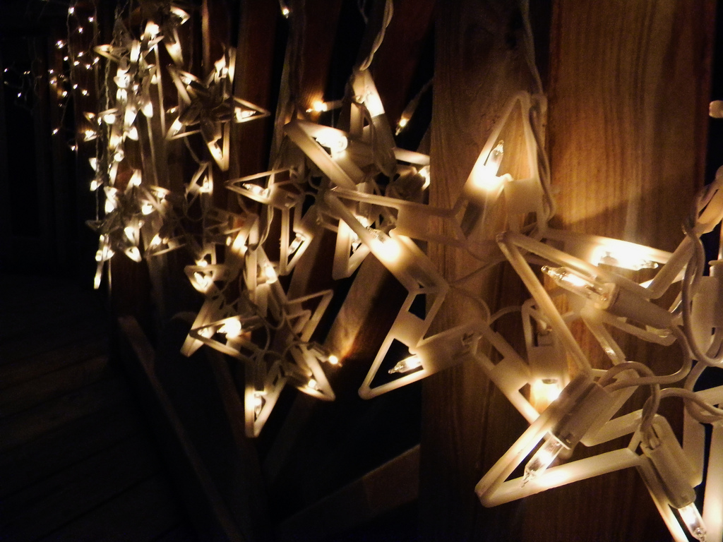 Christmas star window lights decorations