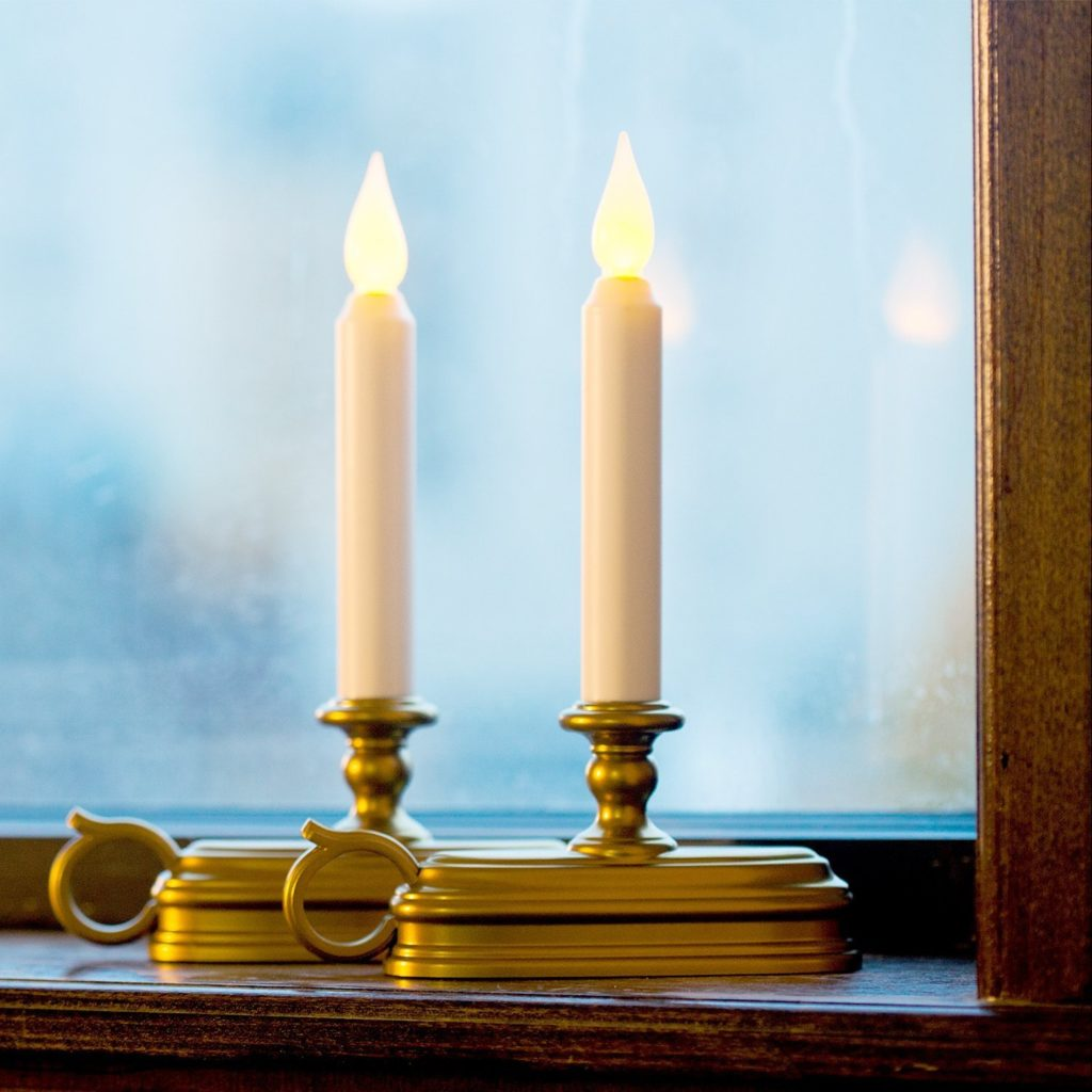 traditional electric window candles