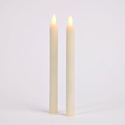 Battery Operated Taper Candles with Five Hour Auto Timer