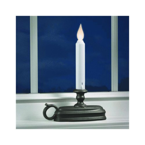 Xodus Innovations FPC1525A Battery Operated LED Window Candle with Sensor, Black, Large Base