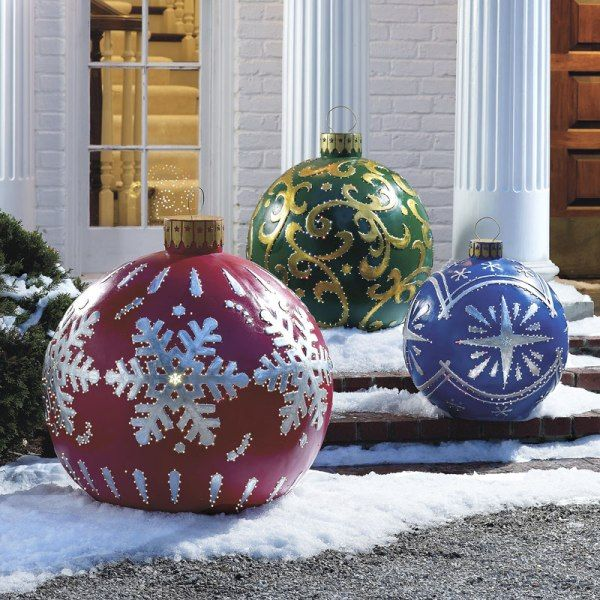 giant lawn christmas ornaments