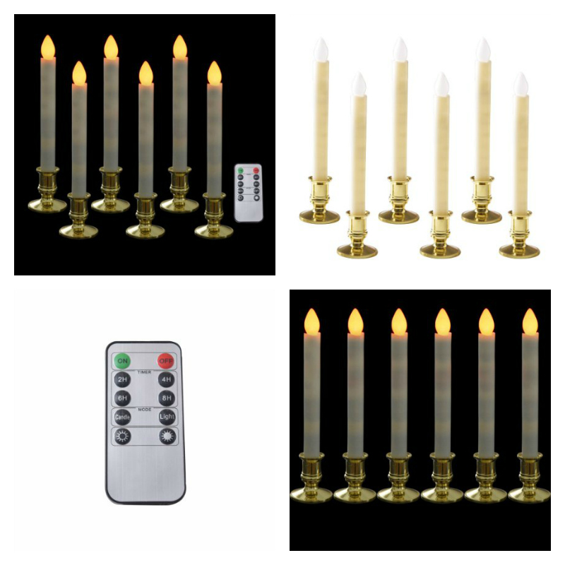 battery operated christmas candles with remote control christmas window decorations